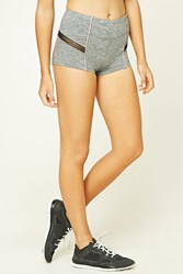 Forever 21 Active Mesh Panel Shorts Charcoal Pink