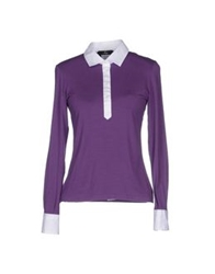 Fay Polo Shirts Purple