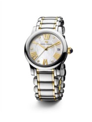 David Yurman Classic 34Mm Stainless Steel Quartz Watch With 18K Gold And Diamonds Silver