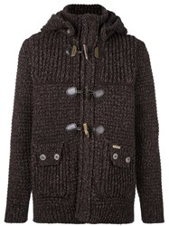 Bark Knitted Duffle Cardigan Brown