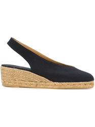 Castaner Castaner Sling Back Closed Toe Espadrilles Blue