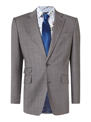 New And Lingwood Findlay Textured Peak Lapel Suit Jacket Grey