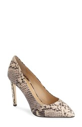 Charles David Women's 'Susan' Pointy Toe Pump Grey Python Printed Leather