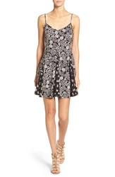 Socialite Women's Mixed Print Fit And Flare Slipdress