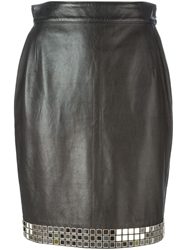 Moschino Vintage Mirror Bead Embellished Skirt
