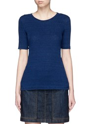 Ag Jeans 'Tria' Short Sleeve Sweater Blue