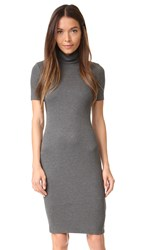 L'agence Ami Mockneck Dress Medium Heather Grey