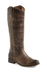 Frye Women's 'Melissa Button' Leather Riding Boot Slate Leather Extended Calf