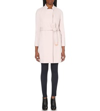 Ted Baker Appia Wool Blend Wrap Coat Pale Pink