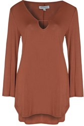 Alice And You Bell Sleeve Tunic Rust