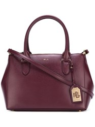 Lauren Ralph Lauren Double Zip Tote Pink Purple