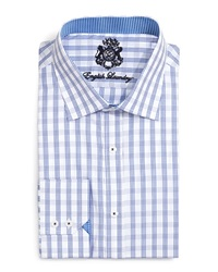 English Laundry Window Check Dress Shirt Dark Blue