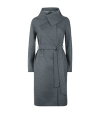 Harrods Of London Oversized Lapel Coat Female Light Grey