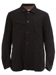 Ziggy Chen Patch Pockets Shirt Jacket Black