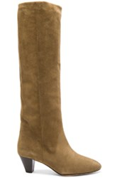 Etoile Isabel Marant Robby New Velvet Boots In Brown