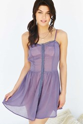 Out From Under Sheer Cinched Slip Purple