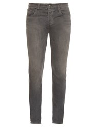 Rag And Bone Mid Rise Skinny Jeans Grey