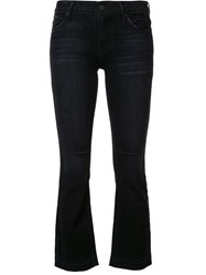 Rta Cropped Flared Jeans Black