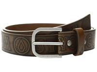Volcom Draft Pu Dark Chocolate Men's Belts Brown