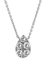 Women's Bony Levy Teardrop Diamond Pendant Necklace Nordstrom Exclusive