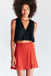 Cooperative Kendric Notch Hem Mini Skirt Red