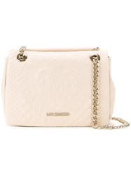 Love Moschino Embossed Medium Shoulder Bag White