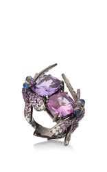 Lydia Courteille One Of A Kind Dragonfly Ring Purple