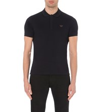 Armani Jeans Cotton Jersey Polo Shirt Blue