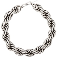 Twisted Necklace Silver Brass