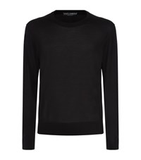Dolce And Gabbana Lightweight Silk Sweater Male Black