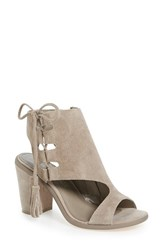 Very Volatile Women's Fastlane Lace Up Sandal Taupe Suede
