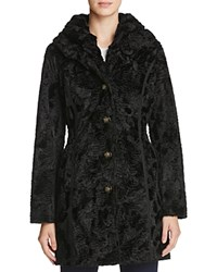 Laundry By Shelli Segal Reversible Persian Faux Lamb Fur Coat Black