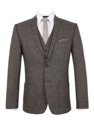 Limehaus Jackson Donegal Slim Fit Suit Jacket Grey