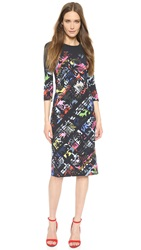 Preen Yard Dress Black Flower Check