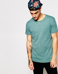Pullandbear Geometric Print T Shirt Applegreen