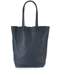 Liebeskind Open Leather Tote Navy