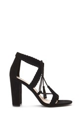 Forever 21 Faux Suede Braided Sandals Black