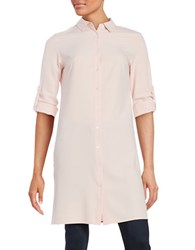 Context Spread Collar Button Down Long Shirt Mauve Blush