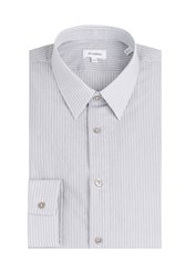Jil Sander Striped Cotton Blend Shirt Grey