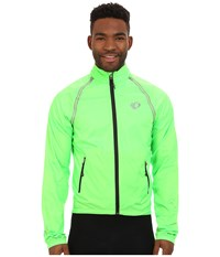 Pearl Izumi Elite Barrier Convertible Cycling Jacket Screaming Green Men's Coat Olive