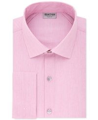 Kenneth Cole Reaction Men's Slim Fit Broadcloth French Cuff Dress Shirt Pink