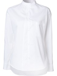 Y's Band Collar Shirt White