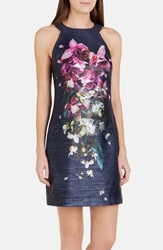 Ted Baker 'Therese' Floral Sheath Dress Dark Blue