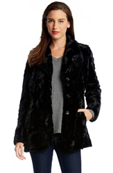 Karen Kane Faux Fur Jacket Black