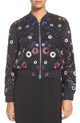 Needle And Thread Women's Embroidered Bomber Jacket Midnight