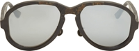 Black Distressed Horn Thamanyah Edition Sunglasses
