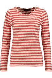 Marc By Marc Jacobs Pam Stretch Cotton And Linen Blend Top Red