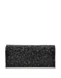 La Regale Beaded Flap Clutch Black