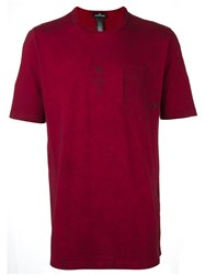 Stone Island Shadow Project Chest Pocket T Shirt Red