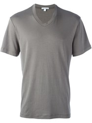 James Perse V Neck T Shirt Green